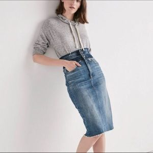 NWT Lucky Brand ReMade Stacked Denim Pencil Skirt